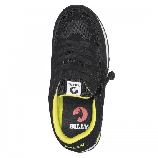 BILLY joggers for kids, black neon/green