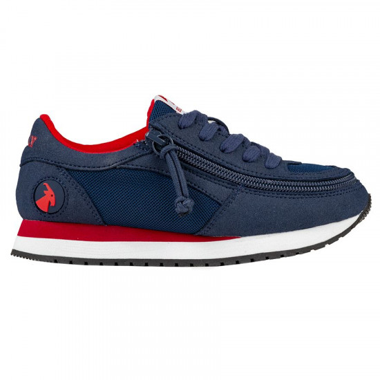 BILLY joggers for kids, navy blue/red