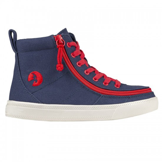 BILLY Classic High for kids - navy blue/red