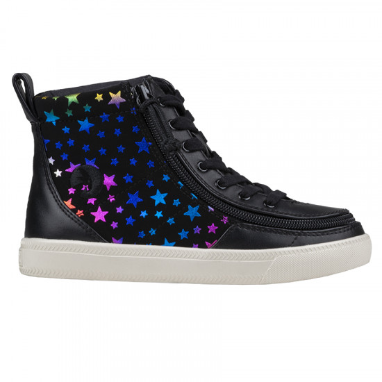 BILLY Classic High - Perf Faux Leather, Stars
