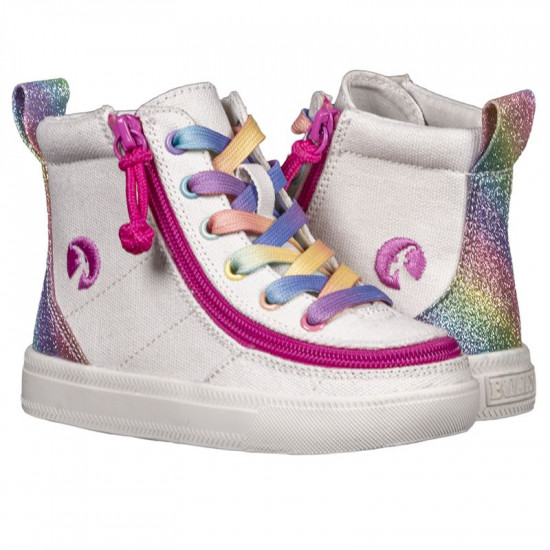 BILLY Classic High for toddlers - white rainbow