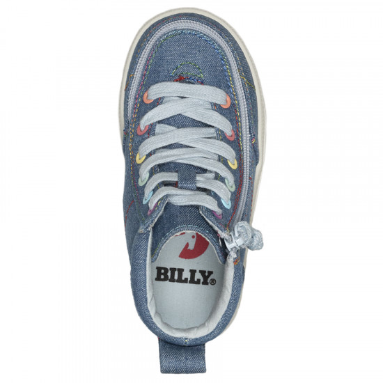 BILLY Classic High  for toddlers - jeans/rainbow stitches